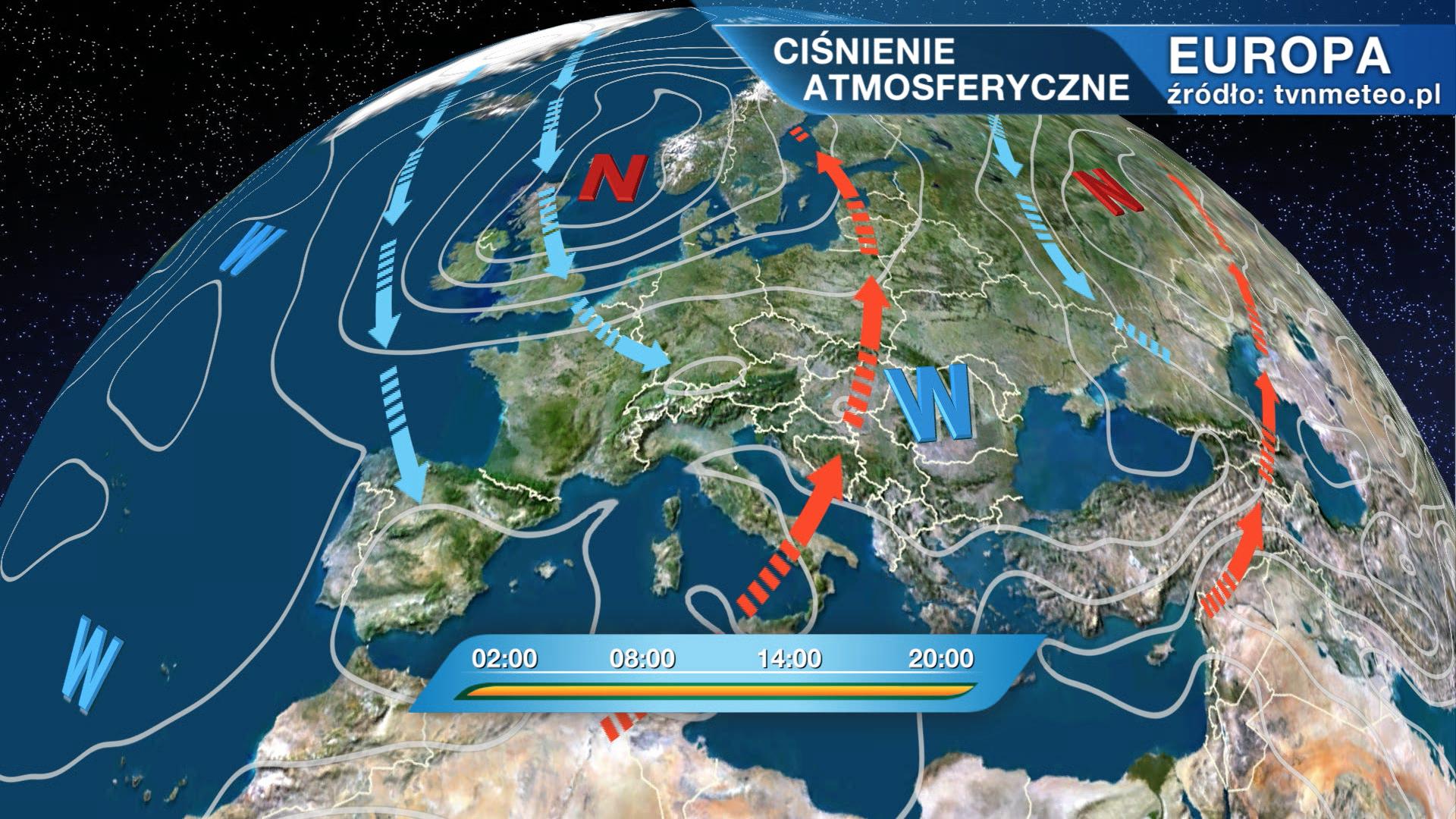 Niż Yap wpływa na pogodę w Polsce